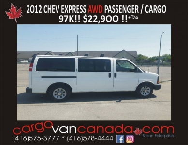 2012 EXPRESS PASSENGER *ALL WHEEL DRIVE* & 97K!!