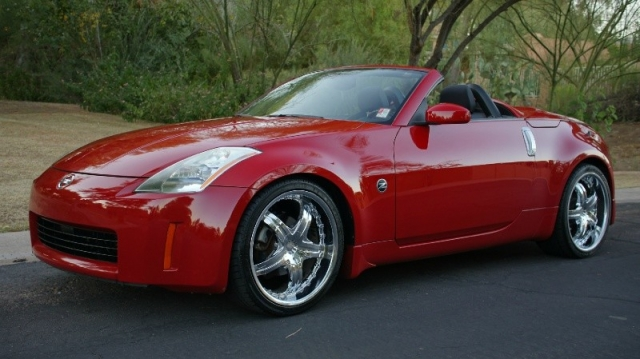 2005 nissan 350z roadster convertible red 20 chromes must see 2005 nissan 350z sciox Images