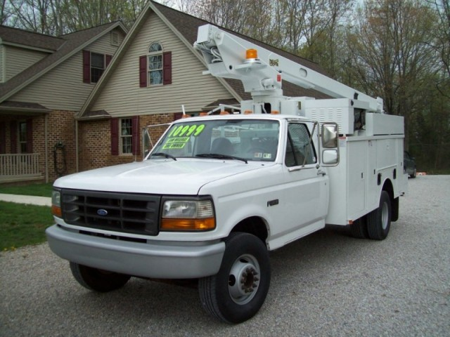 Mechanically Refurbished 1996 Ford F450SD Bucket Truck Inspected