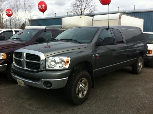 2007 Dodge Ram 3500 SLT SURREY LANGLEY KELOWNA DIESEL long box with canopy 4x4 FOR SALE