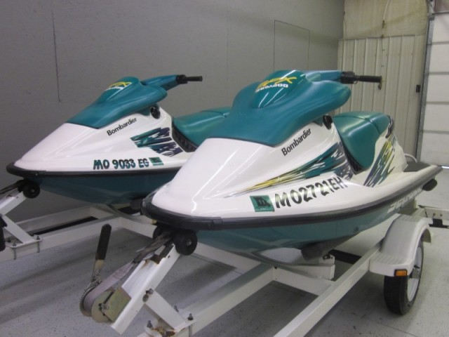 1996 Seadoo SPX jet ski with Double Trailer
