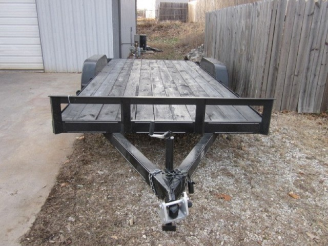 2010 18ft Car Hauler Flat Bed Trailer