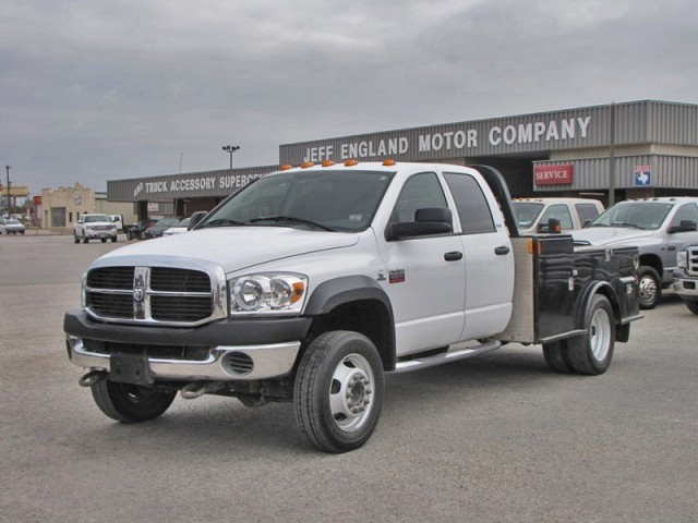 08 Dodge 4500HD 4WD Quad Cab, CM Work Bed, 52k Miles