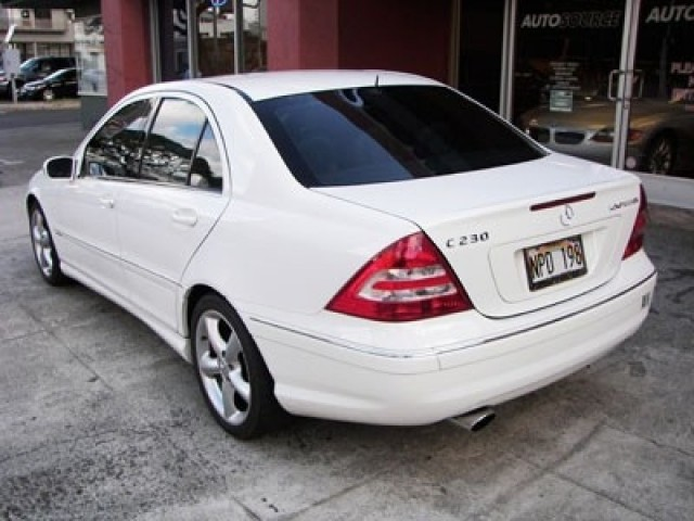 used 2005 mercedes benz c230 kompressor sport sedan for sale honolulu 96814 usa used cars. Black Bedroom Furniture Sets. Home Design Ideas